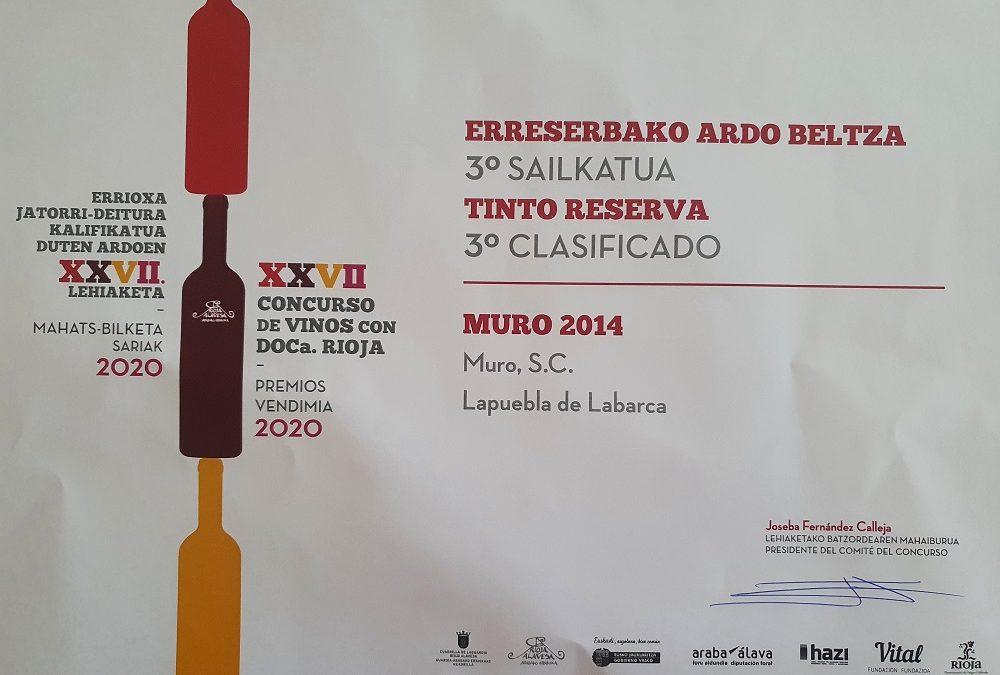 Concurso de Vinos con Doca Rioja Premios vendimia 2020